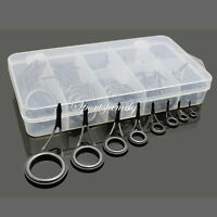 40 Ceramic 8 Sizes Fishing Rod Guides Tips Parts Rod Building Repair Eye Rings