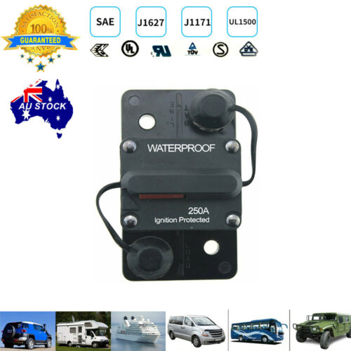 250AMP 12V-48V Waterproof Surface Mount Circuit Breaker with Manual Reset