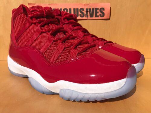 "Nike Air Jordan XI Retro 11 WIN LIKE /'96 /""Gym Red/"" Black 378037-623"