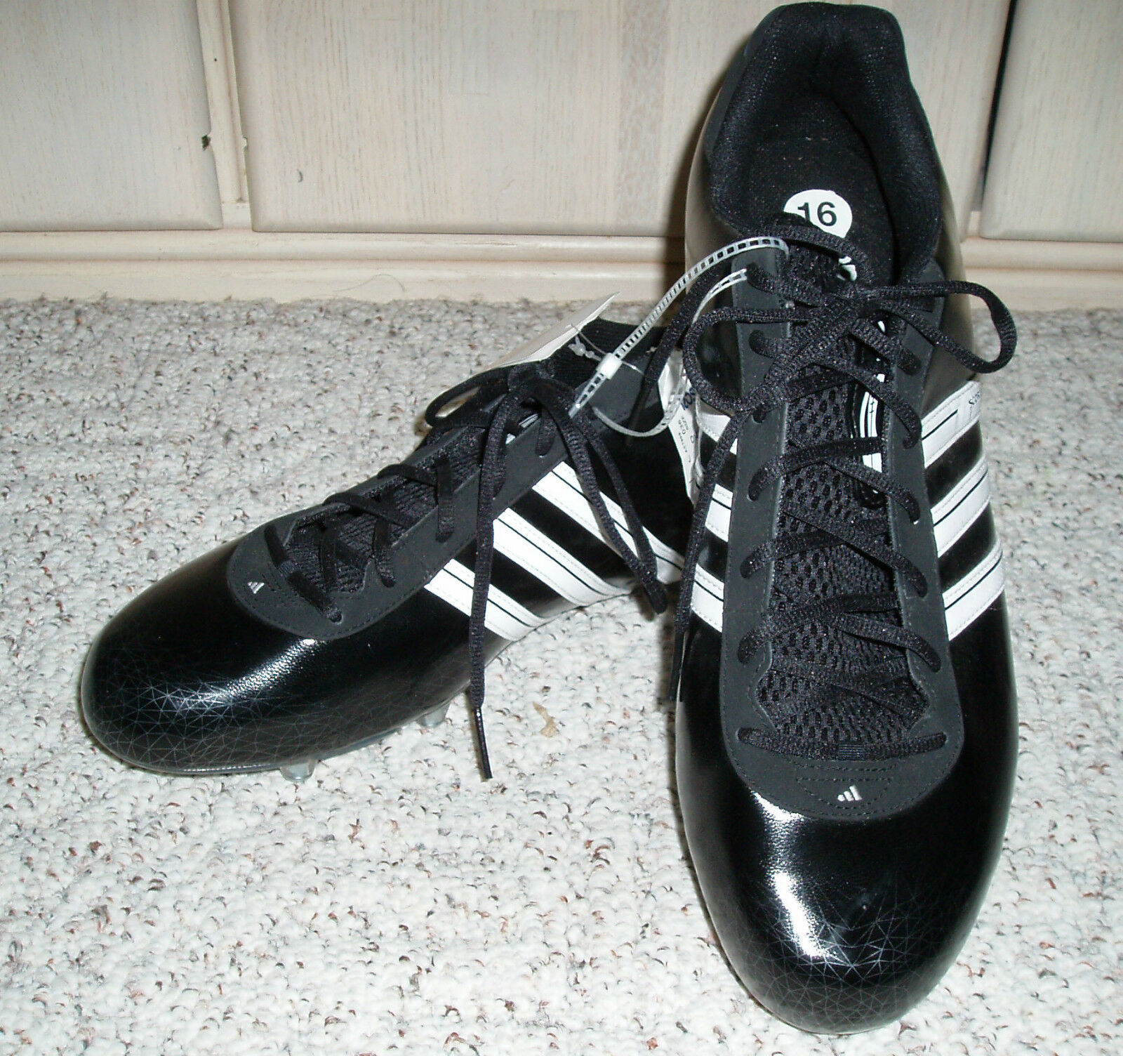 NWT~Men's ADIDAS Scorch Low Football Cleats Shoes Spiderweb~Black~Comfortable Cheap women's shoes women's shoes