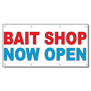 Bait Shop Now Open Red Blue 13 Oz Vinyl Banner Sign With. Man Murals. Vehicle Wraps. Awareness Stickers. Childhood Diabetes Signs Of Stroke. Frog Murals. Moose Signs Of Stroke. Orange Wall Murals. Copyright Signs Of Stroke