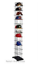 72 Hats Cap Hat Rack 12 Tier Baseball Tower Black Floor Standing Display 78 H