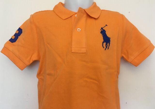 Orange Big Mesh Lauren Toddler 2t Solid Polo Pony Sz Boys Shirt Ralph SUpqzVLGM