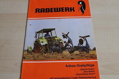 144197) Rabewerk Drehpflug - Specht + Star + Supertaube - Prospekt 12/1984 100% Original