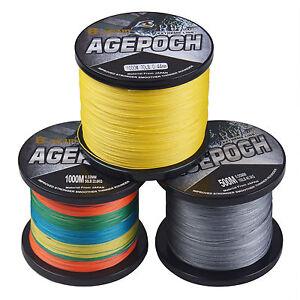 8-fili-Agepoch-100M-1000M-10LB-100LB-5-COLORI-PE-Dyneema-Intrecciato-Lenza-da-pesca