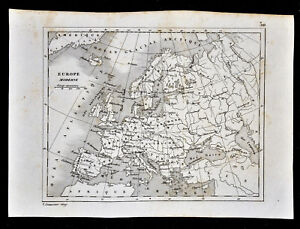Map Of France Holland And Germany.1835 Levasseur Map Europe Spain Italy Austria Germany France