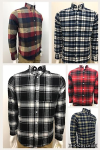 Men-039-s-100-Cotton-Yarn-Dyed-Flannel-Colourful-Check-Shirts-Regular-Fit-5-Colours