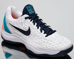 b3372e3a828c Nike Court Air Zoom Cage 3 HC Men s New White Obsidian Tennis Shoes ...