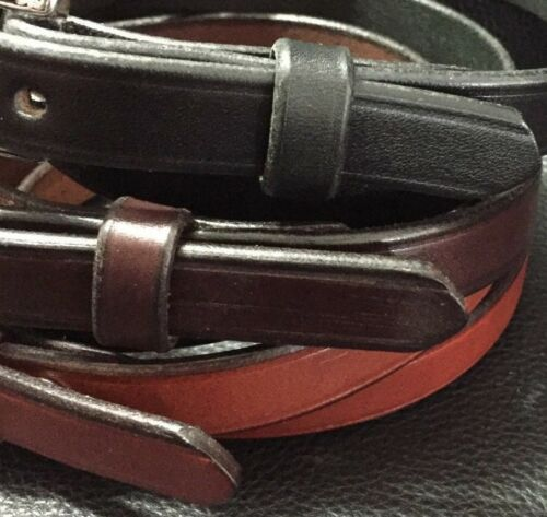 Womens Genuine Leather Thin Skinny Belts for Women/'s Jeans Pants/_Amish Made USA