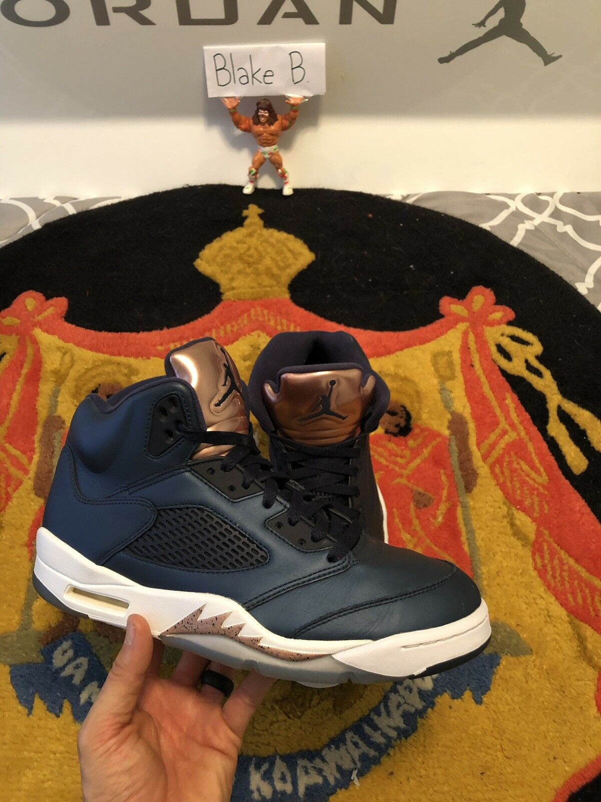 8a88b2e65bd7c1 Jordan Bronze Size 10.5 Air 5 ntuauz4283-Athletic Shoes - motors ...