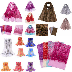 Fashion-Women-Adult-Chiffon-Flower-Printing-Long-Soft-Wrap-Scarf-Shawl-Scarves