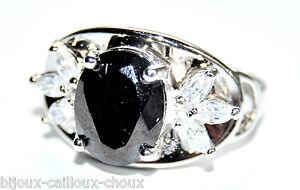 Bague-rhodium-argente-zirconium-noir-blanc-T-54-bijou-ring