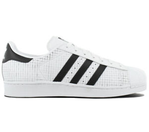 Details zu adidas Originals Superstar Herren Sneaker Leder Schuhe Weiß AQ8333 Turnschuh NEU