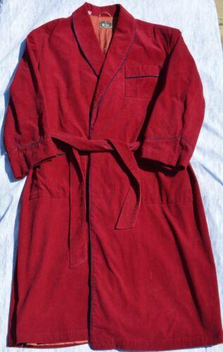 Vintage Men's BILL BLASS Royal Red Corduroy Robe p