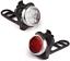 Ascher Rechargeable USB Bike Light Set Super Lumineux Phare avant et arrière DEL