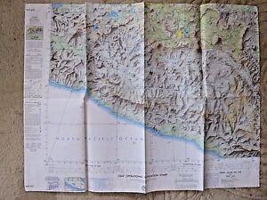 Vintage Aeronautical Usaf Operational Navigation Chart Map Sierra