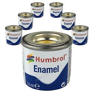 6-X-Humbrol-Enamel-Model-Paints-14ml-Choose-your-colours-Humbrol-paints