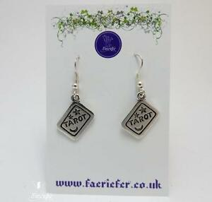 Details about Tarot Card charm Earrings, Oracle Truth Future Fortune  Telling jewellery gift