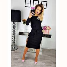 015ea63c16 item 4 UK Womens Long Sleeve Bodycon Ladies Office Work Belt Party Midi  Dress Plus Size -UK Womens Long Sleeve Bodycon Ladies Office Work Belt  Party Midi ...