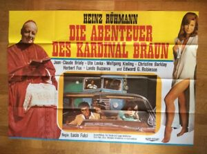 Abenteuer-des-Kardinal-Braun-A0-Kinoplakat-039-68-Heinz-Ruehmann-Lucio-Fulci