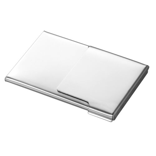 1 Porte-cartes d/'affaires Card Case Demi Clamshell Acier inoxydable 9.3cmx6cm