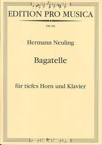 CompéTent Neuling Bagatelle Horn & Piano Aussi Efficacement Qu'Une FéE