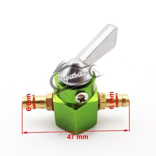 "2x 1//4/"" Gas Fuel Tap Cut Off Inline Valve Petcock For Kawasaki ATV Quad Pit Bike"