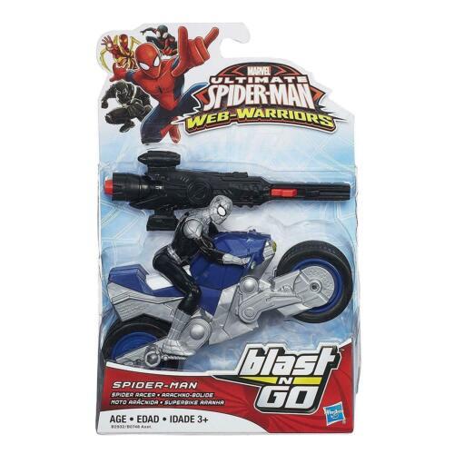 Marvel Ultimate Spider-Man Motor Cycle Blast n Go Action Figure New /& Sealed