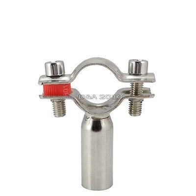 φ25 OD 25mm Sanitary Bracket Pipe Fitting Ajustable Clamp Stainless Steel 304