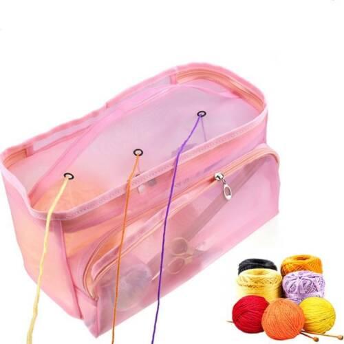Craft Organizer Pouch Wool Storage Bag Mesh Sweater Travel Knitting Baskets BL