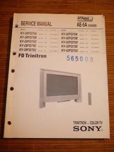 Service Manual Sony Kv-28fq75,kv-32fq75 Tv,original Tv, Video & Audio