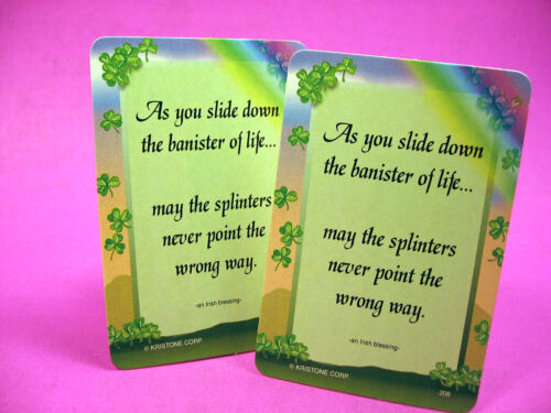 "SKU# 206 2 Verse Cards /""As You Slide/"""