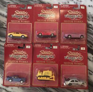 Vintage-sin-abrir-Lote-de-6-vehiculos-Maisto-Die-Cast-1997-Blister-Original