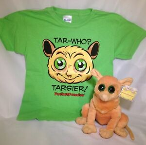 LOOK-ON-SALE-NOW-Tarsier-Stuffed-Animal-amp-T-Shirt-Gift-Set-by-PocketFuzzies