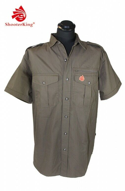 Shooterking Free Move Shirt Olive Größe M Stretch short Sleeve Sie Hunting