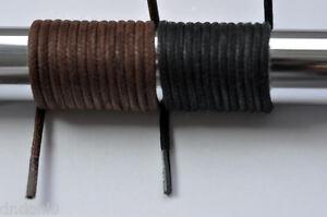 gewachste Business Schuhe Schnürsenkel rund 60-100 cm braun 2,5 mm glänzend NEU