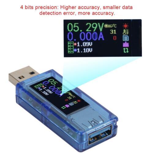 RuiDeng AT34 USB 3.0 LCD Voltmeter Amperemeter Tester Spannung Strom Meter ♤♤