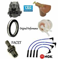 Tune Up Kit Air Fuel Filters Cap Rotor Wire For Toyota Tercel 1986-1988