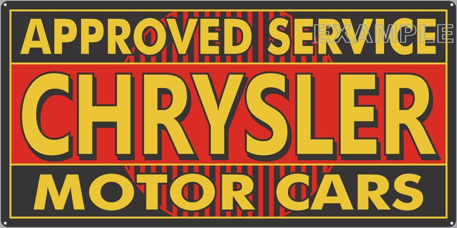 CHRYSLER MOTOR CARS OLD SIGN REMAKE ALUMINUM IN OUTDOOR 12  X 24  18  X 36