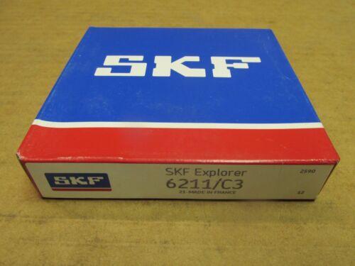 NIB SKF 6211C3 BEARING OPEN 6211 C3 55x100x21 mm