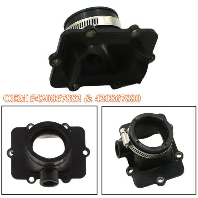 New 2 Pcs Carburetor Carb Intake Manifold Boot For Ski-Doo 600 500 OE 420867882 420867880