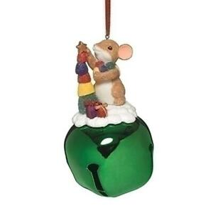 CHARMING TAILS Mouse Ornament CANDY JINGLE BELL TREE ...