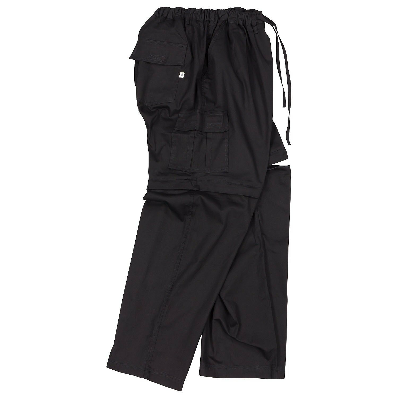 Zipp-Off-Hose von Abraxas in Übergröße schwarz