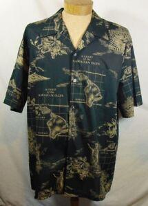 Howie-Fashion-Made-in-Hawaii-Black-Beige-Chart-of-the-Hawaiian-Islands-sz-XXL