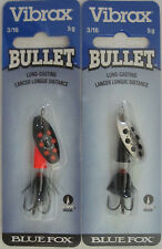 1//8 oz. BLUE FOX  Vibrax Bullet Fly Spinners 2 Size 0 - Two Great Colors!