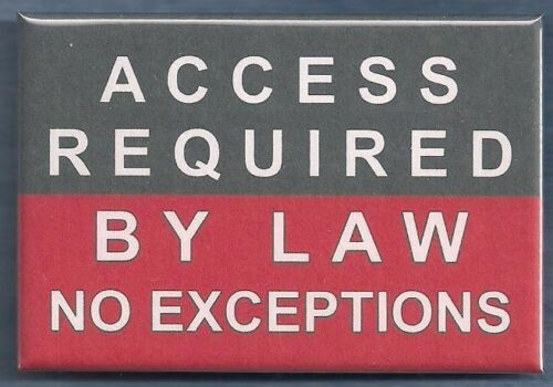 service dog vest  patch PIN button ACCESS REQUIRED BY LAW NO EXCEPTIONS
