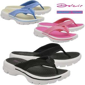Fitness Comfort Walking Wedge Heel Fit Flip Go Flops Ladies Low eBWdrCxo