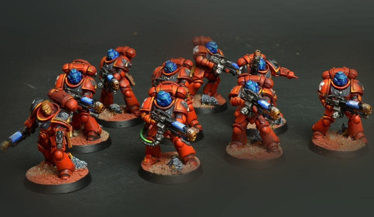 Primaris Hellblasters Blood angels warhammer 40K   COMMISSION  painting  distribuzione globale