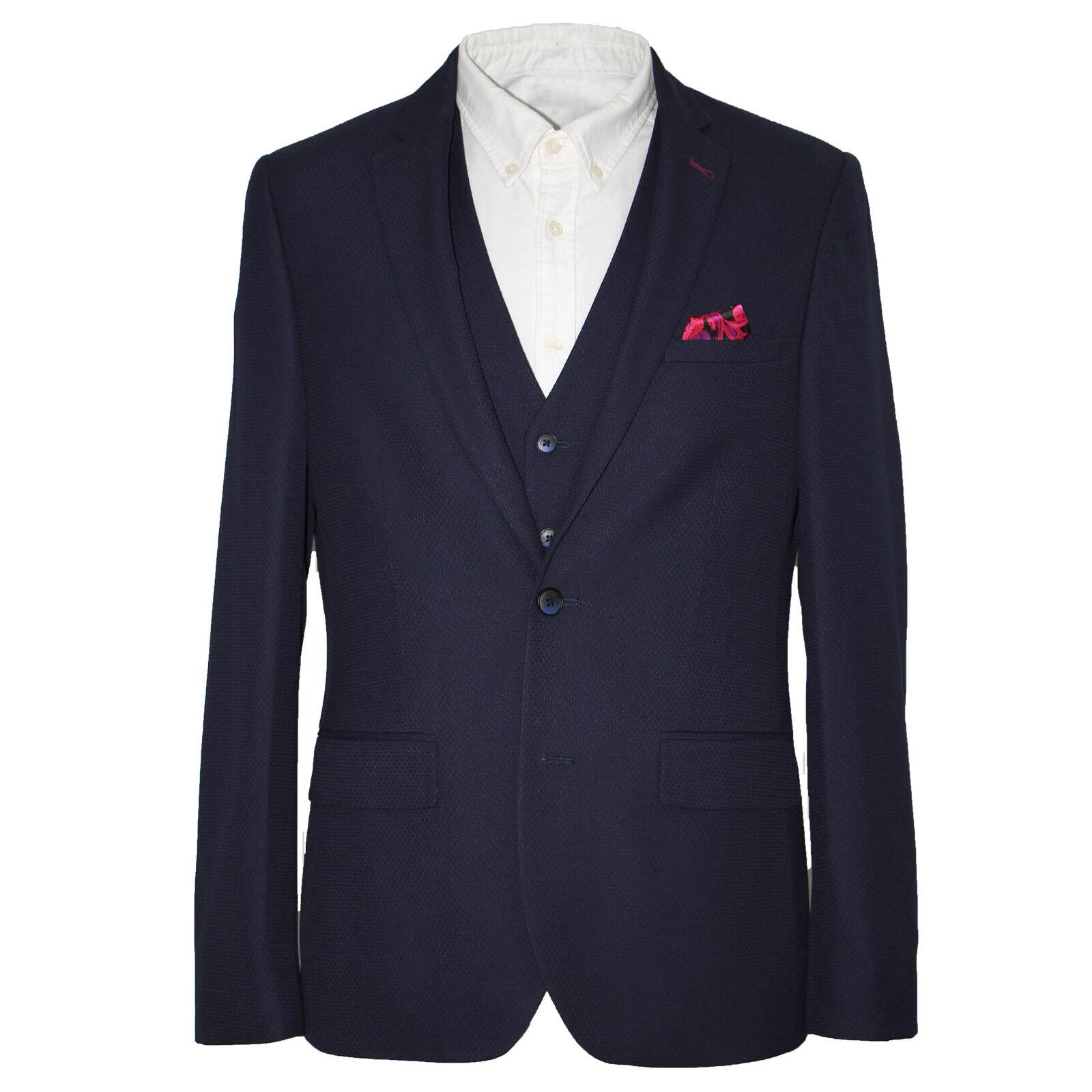 Harry braun DANDY Three Piece Slim Fit Suit in Navy 54088b 0375   | Auf Verkauf  | Moderne und stilvolle Mode  | Sorgfältig ausgewählte Materialien