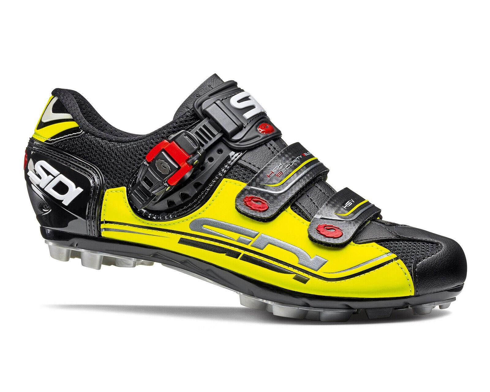 Zapatos De Ciclismo Sidi Eagle 7 Sr 2019-Negro amarillo negro [tamaño  36  47 EUR]